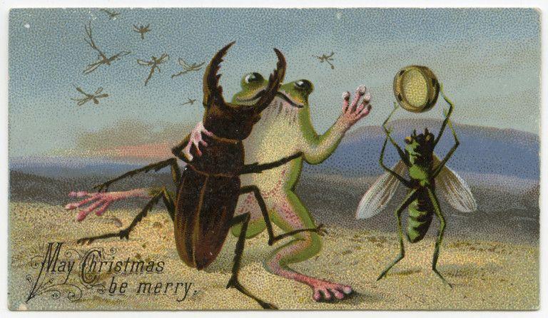 Karta świąteczna z XIX wieku