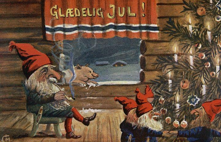 Prosiak i krasnoludki. Wesołych Świąt!