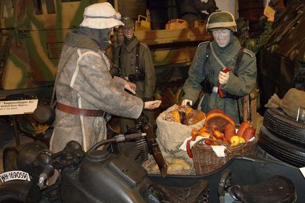 Żołnierze niemieccy fragment ekspozycji muzeum