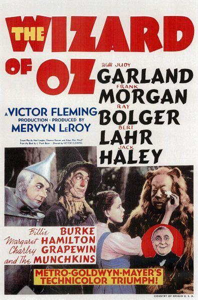 Czarnoksiężnik z krainy Oz plakat filmowy