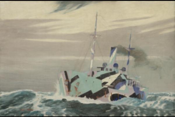 Norman Wilkinson do końca wojny przemalował prawie 4.5 tysiąca okrętów