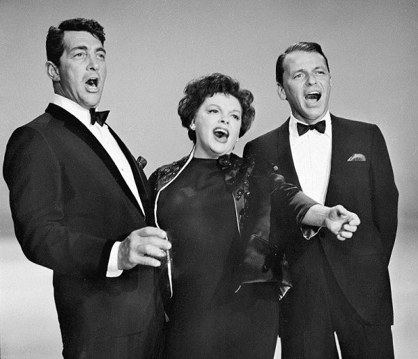Dean Martin, Garland, i Frank Sinatra