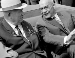 Władysław Gomułka i Nikita Chruszczow, Warszawa 1964 r