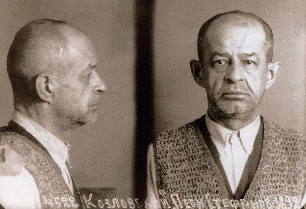 Zdjęcie Kozłowskiego wykonane w 1939 w więzieniu śledczym NKWD we Lwowie