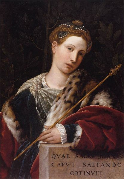 Moretto da Brescia, Tullia d'Aragona jako Salome