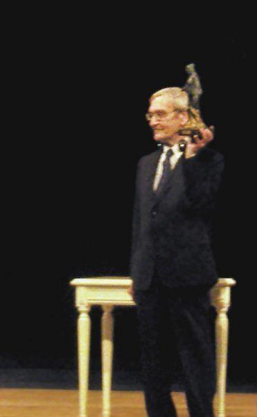 """Stanisław Pietrow, Drezno 2013, odbiór nagrody """"Dresden Preis"""""""