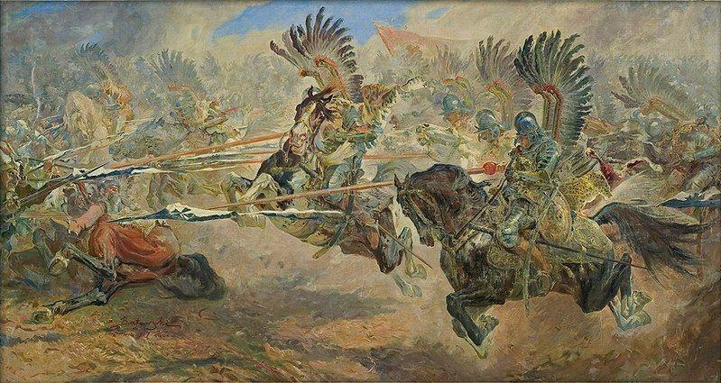 Stanisław Kaczor Batowski Atak husarii. Chocim 1917
