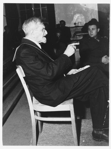 Claus Karl Schilling podczas procesu w roku 1945