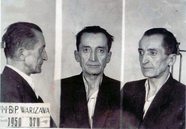 Emil Fieldorf po aresztowaniu w 1950