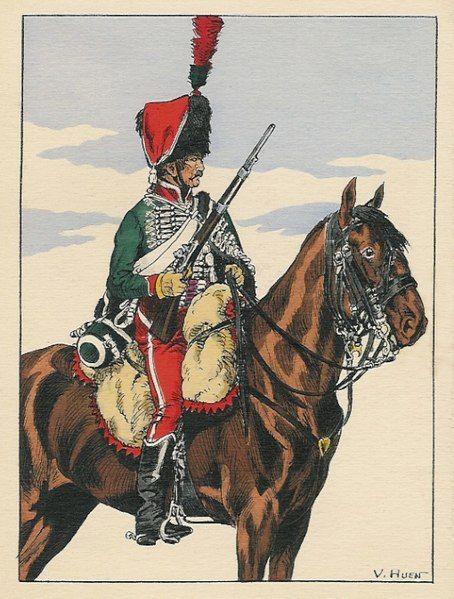 Huzar francuski z okresu napoleońskiego (1804)