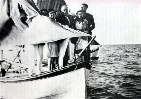 Mussolini z rodziną