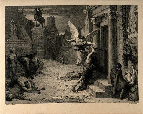 W trakcie Zarazy Antoninów ciała chorych pokrywały się wrzodami i targane były wysoką gorączką