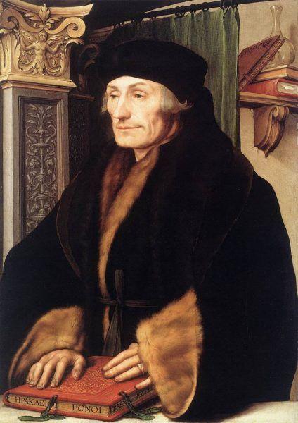 Erazm z Rotterdamu na obrazie Hansa Holbeina młodszego