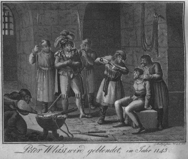 Oślepienie Piotra Włostowica w 1145