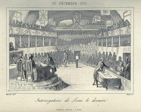 Ludwik XVI przesłuchiwany przez Konwent Narodowy