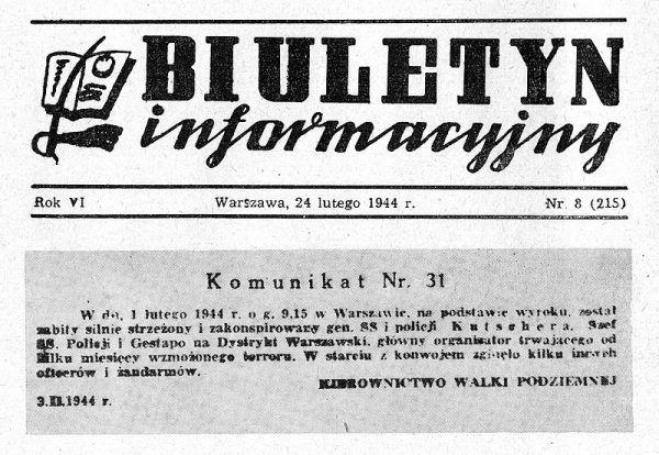 Notatka w Biuletynie Informacyjnym