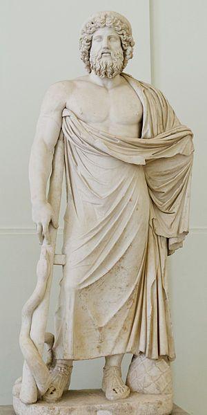 Domniemany posąg Eskulapa ze świątyni rzymskiej (Kolekcja Farnese w Narodowym Muzeum Archeologicznym w Neapolu)