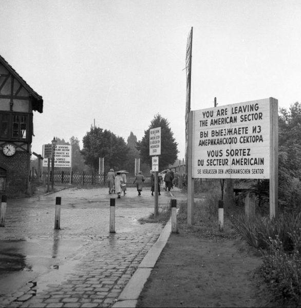 Granice sektorów, Berlin Düppel, 1955