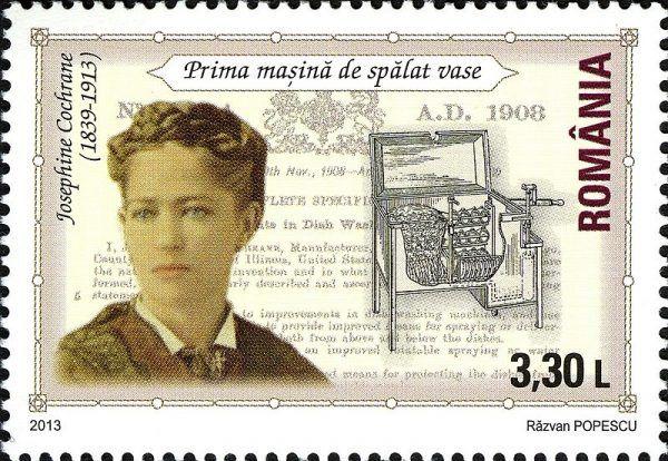 Josephine Cochrane na znaczku pocztowym