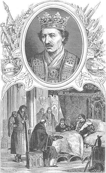 Kazimierz Jagiellończyk w cyklu Wizerunki książąt i królów polskich Ksawerego Pillatiego z 1888