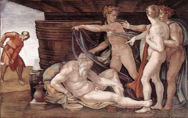 Pijaństwo Noego, Michał Anioł, 1509 r.
