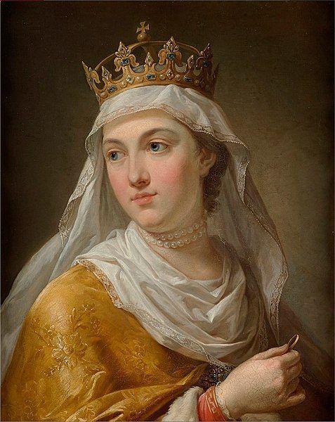 Portret królowej Jadwigi Andegaweńskiej, autor Marcello Bacciarelli