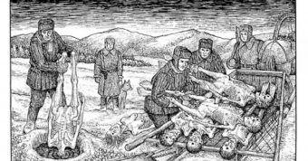 Więźniowie łagrów sowieckich byli poddawani nieludzkim torturom. Ilustracja z książki