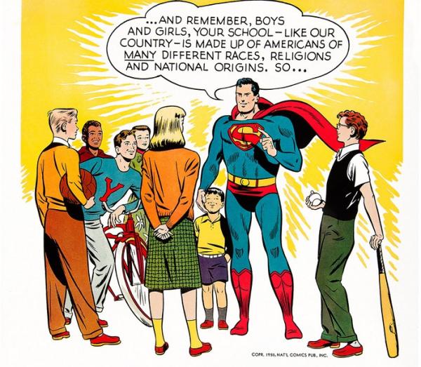 Superman edukował i wychowywał. Podkreślał, iż Ameryka jest różnorodna