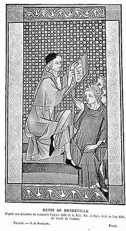 Henri de Mondeville stosował bardzo nowatorskie metody leczenia