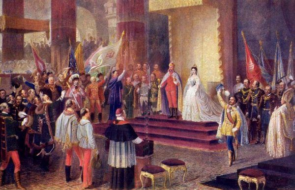 Koronacja Franciszka Józefa i Elżbiety na króla i królową Węgier