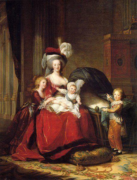 Maria Antonina ze swoimi dziećmi