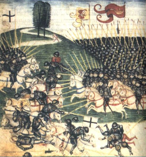 Bitwa pod Grunwaldem. Diebold Schilling, miniatura (XV wiek)