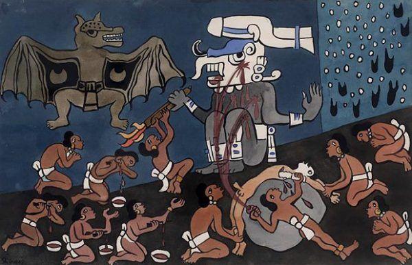Bogowie Majów i Azteków łaknęli krwi