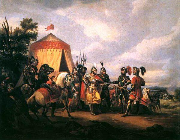 """""""Przed bitwą pod Grunwaldem"""", Feliks Sypniewski (1852)."""