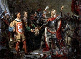 Władysław Jagiełło przed bitwą pod Grunwaldem
