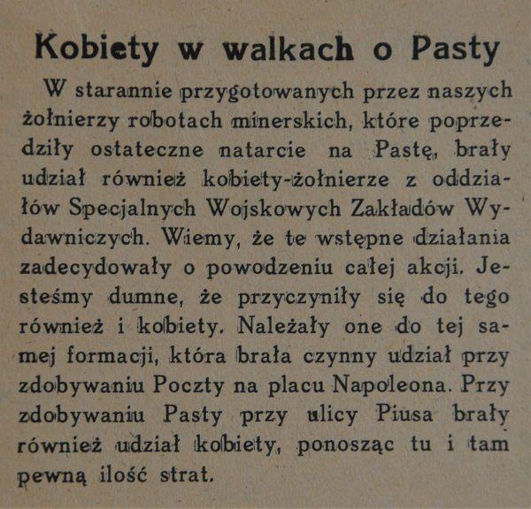 Kobiety walczyły i umierały za wolną Polskę