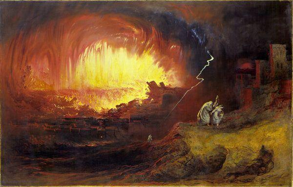 Zniszczenie Sodomy i Gomory, John Martin, 1832