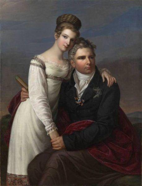 Antoni Radziwiłł z córką Elizą
