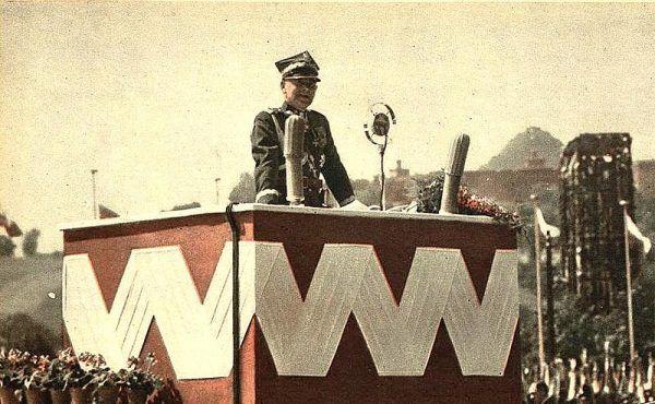 Edward Śmigły Rydz podczas uroczystości 6 sierpnia 1939 w Krakowie