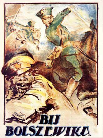Polski plakat propagandowy z 1920