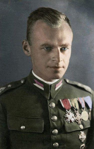 Witold Pilecki w polskim mundurze