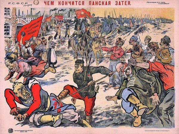 Oto czym kończą się pańskie pomysły – sowiecki plakat propagandowy z 1920