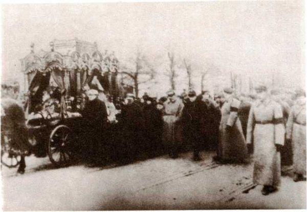Nadieżda Siergiejewna Alliłujewa pogrzeb w Moskwie, rok 1932