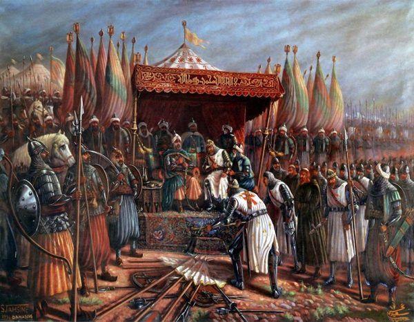 Saladyn po bitwie pod Rogami Hattinu.