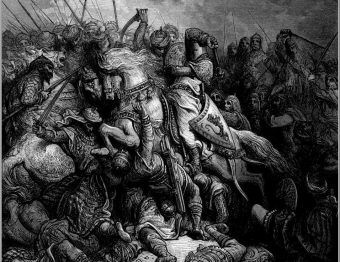 Ryszard Lwie Serce podczas trzeciej krucjaty chciał odbić Jerozolimę z rąk Saladyna.