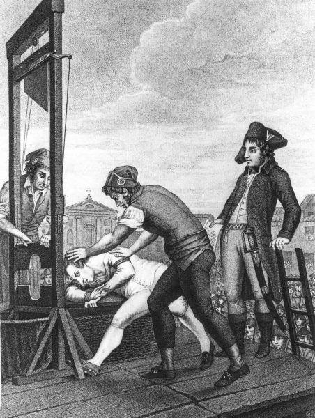 Robespierre oddał głowę na gilotynie