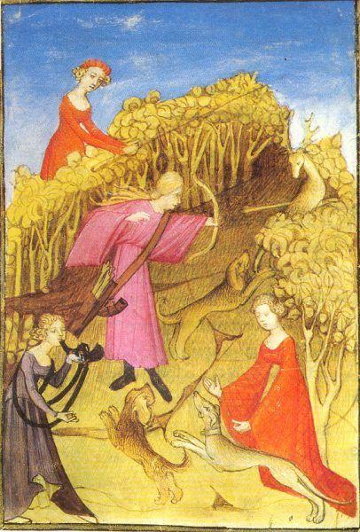 W polowaniach brały udział także kobiety.