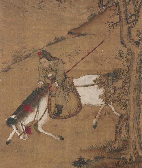 """""""Mulan dołącza do armii"""" artysty z dynastii Ming, Tang Yina"""