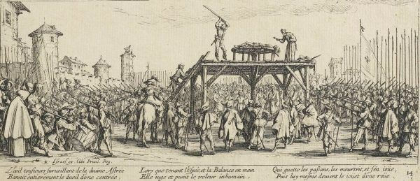 Łamanie kołem było popularną metodą tortur.