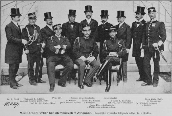 Członkowie komitetu organizacyjnego pierwszych nowożytnych igrzysk